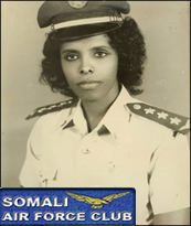 Somlia's first female pilot
